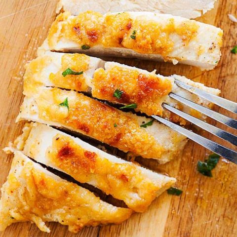 Baked Chicken Breast with Parmesan Cheese