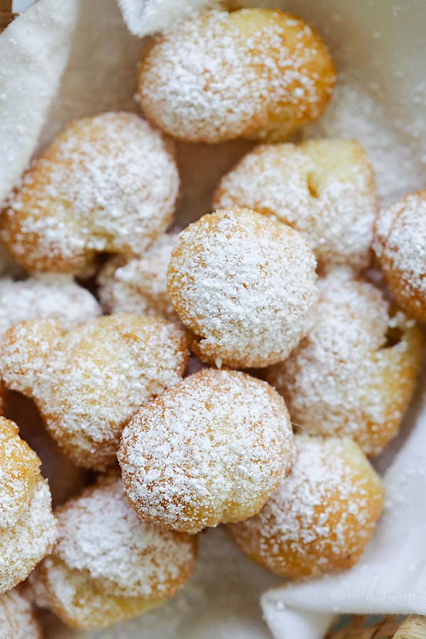 This beignets recipe yields deep-fried dough balls or choux pastry.