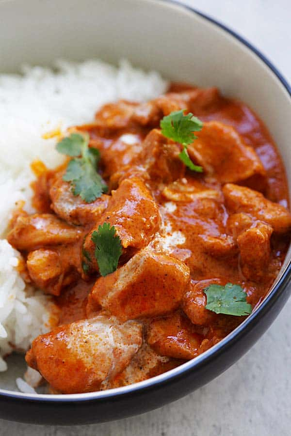Authentic Indian butter chicken can be made in a pressure cooker.