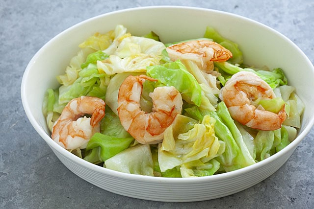 Shrimp Sauteed Cabbage