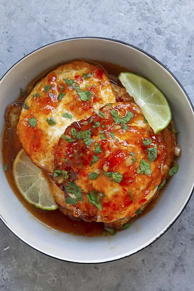 Sweet chili eggs is one of the best egg recipes you can make in 15 minutes.