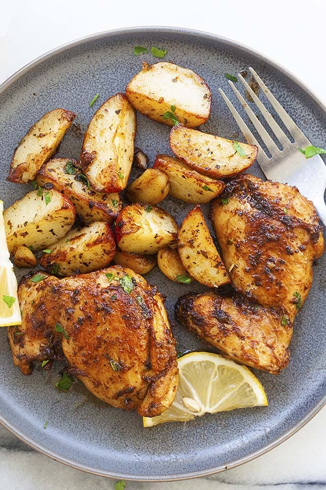 Chicken and Potatoes Skillet