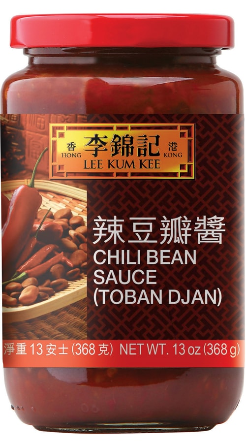 Lee Kum Kee brand Chili Bean Sauce Douban Jiang in a bottle.