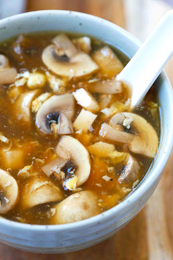 How to make easy hot and sour soup with a handful of ingredients.