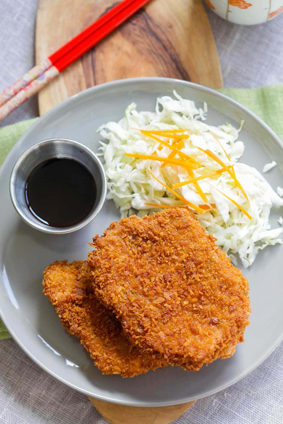 Tonkatsu chicken.