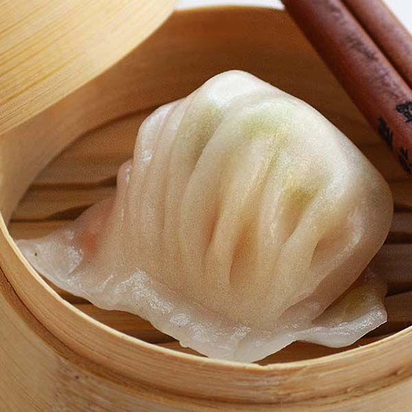 Har gow shrimp dumpling.