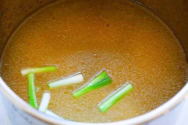 Making ramen soup in Instant Pot.