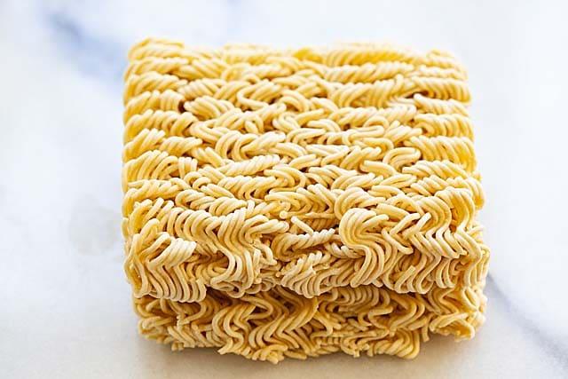 Dry ramen noodles.
