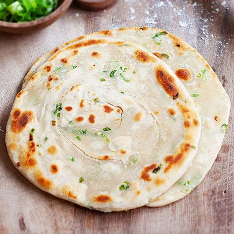 Scallion pancakes.