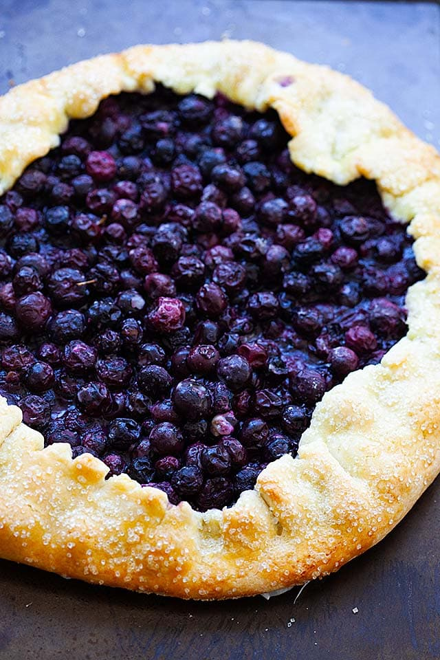 Blueberry galette, ready to serve.