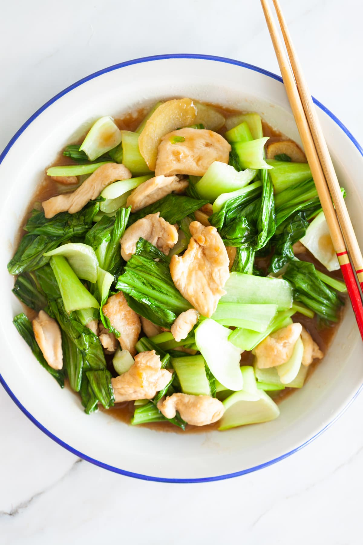 Bok choy chicken.