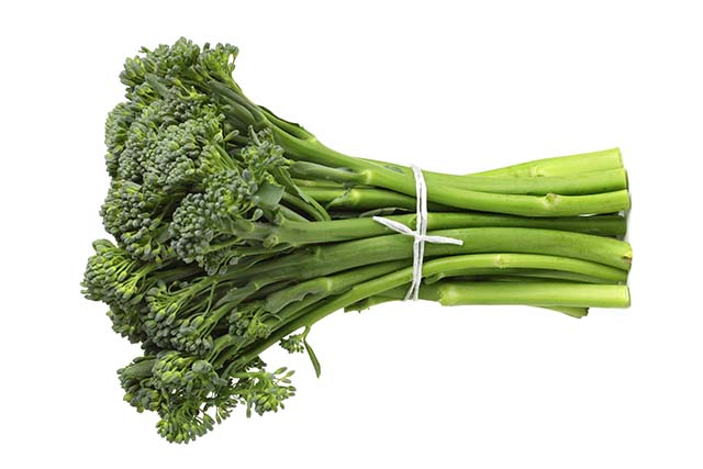 A bunch of fresh and organic broccolini.