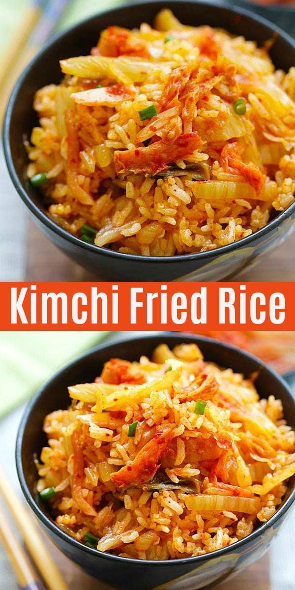 Kimchi Fried Rice Ready In 15 Mins Rasa Malaysia