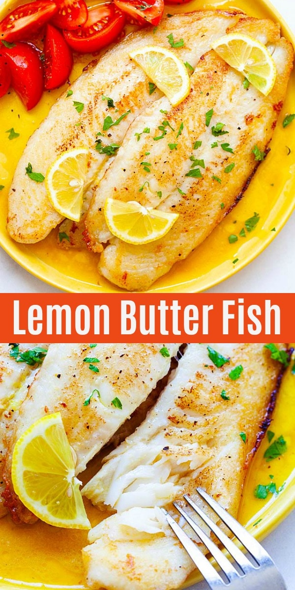 Lemon Butter Swai Fish - tender and moist pan fried fish with lemon butter sauce. This recipe takes 10 mins from start to finish and rival the best seafood restaurant. Serve alone or with pasta for dinner.