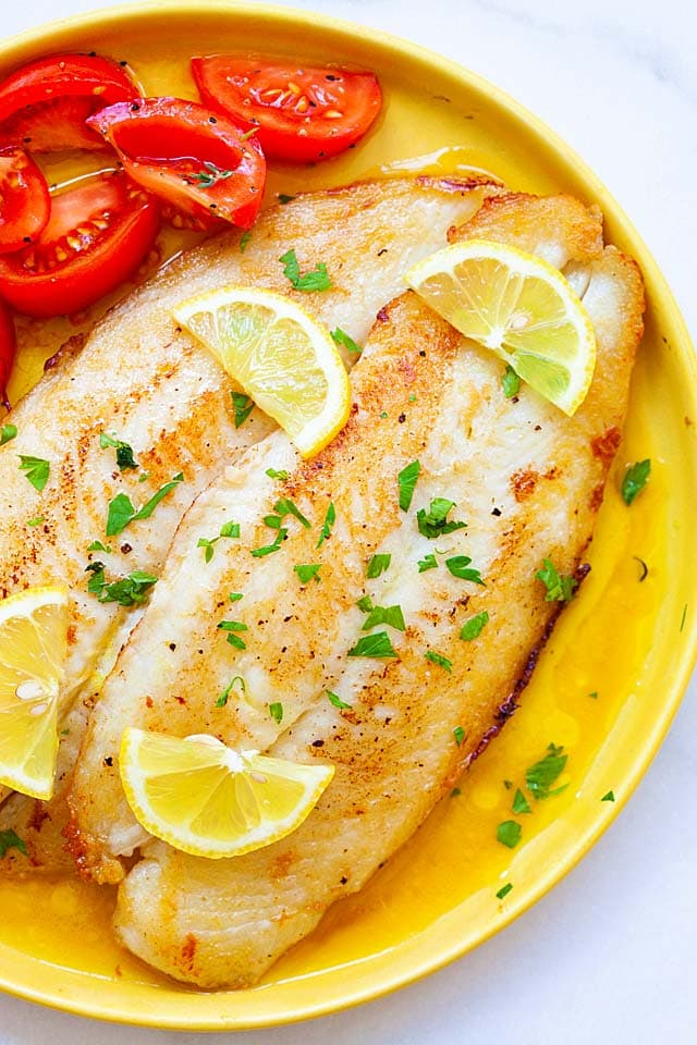 Lemon butter swai fish is one of the best swai fish recipes. Pan fried fish with lemon butter sauce.