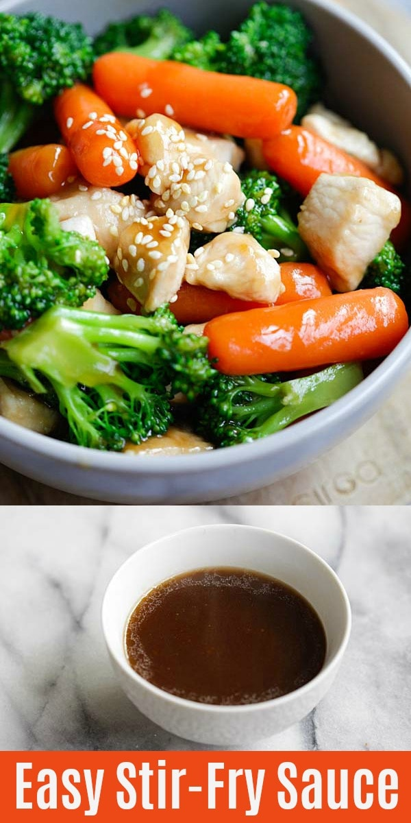 Easy Stir Fry Sauce – learn how to make Chinese and Asian food with this delicious all-purpose stir fry sauce recipe. Homemade stir fries have never been easier | rasamalaysia.com
