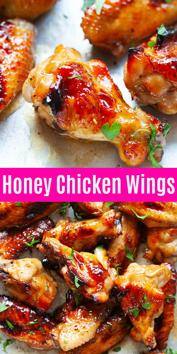 Baked chicken wings with 5 ingredients and 5 minutes active time. This is an easy chicken wings recipe in oven that anyone can make at home.