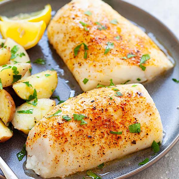 Baked cod is one of the best cod recipes.