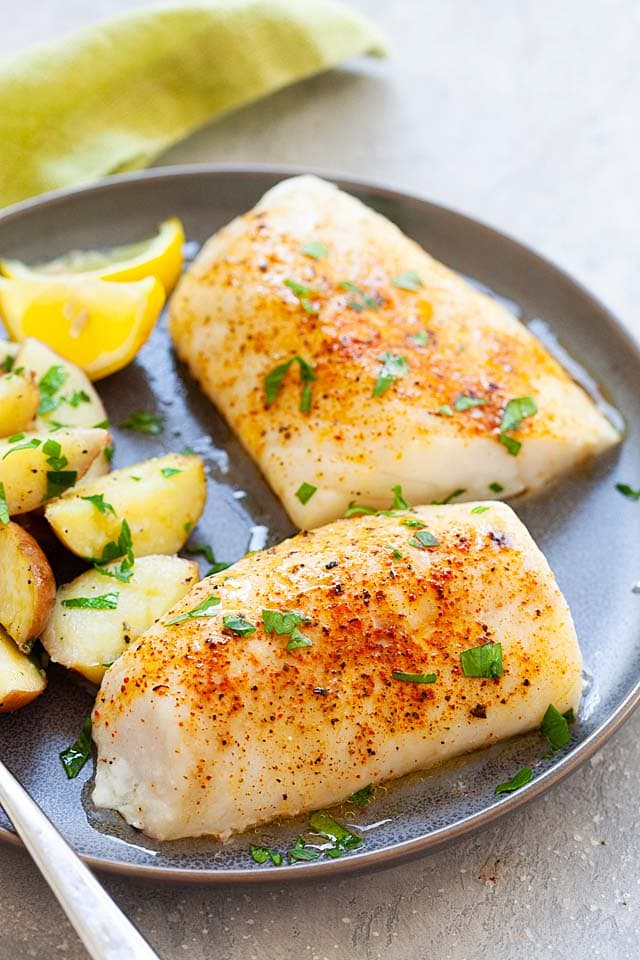 Lemon baked cod with cod fish is one of the easiest cod recipes to make in an oven.