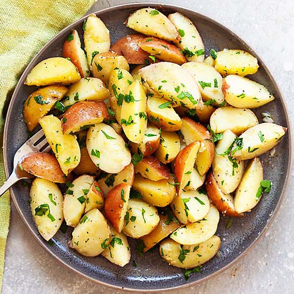 Boiled Potatoes With Parsley 5 Minutes Prep Time Rasa Malaysia