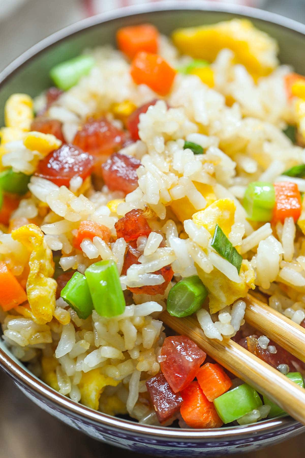 Chinese fried rice, ready to serve.