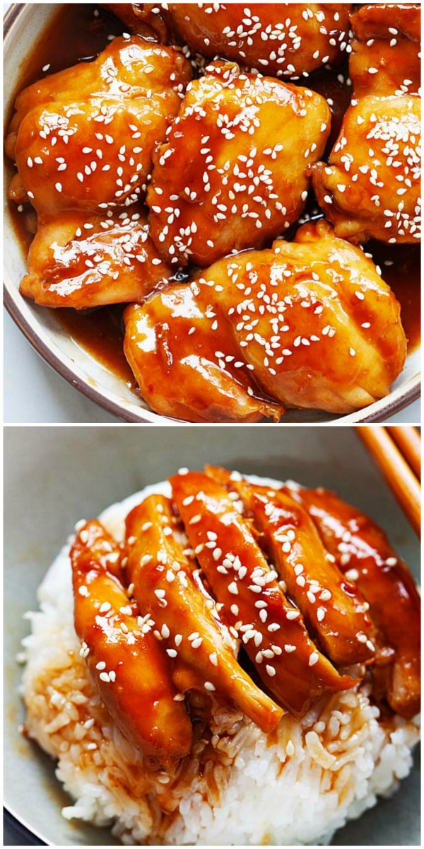 Instant Pot Chicken Teriyaki - juicy and tender Instant Pot chicken thighs in yummy teriyaki sauce, pressure cooked for 5 minutes and dinner is ready!