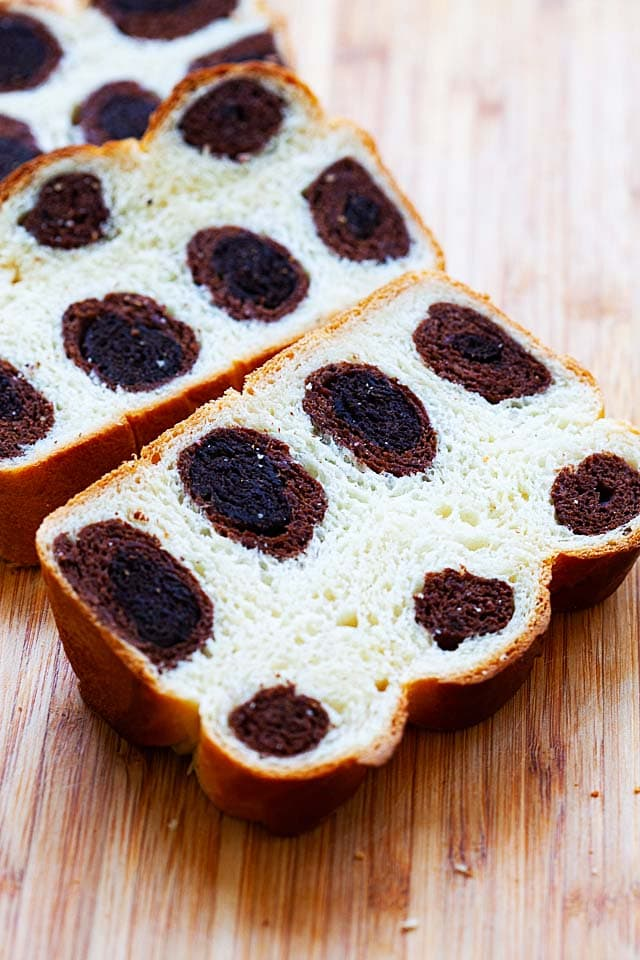 Leopard bread loaf.