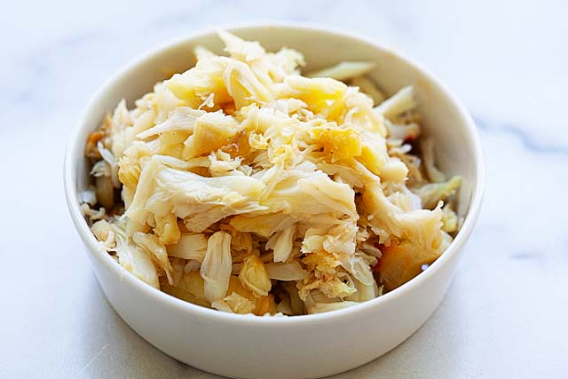 Dungeness lump crab meat.