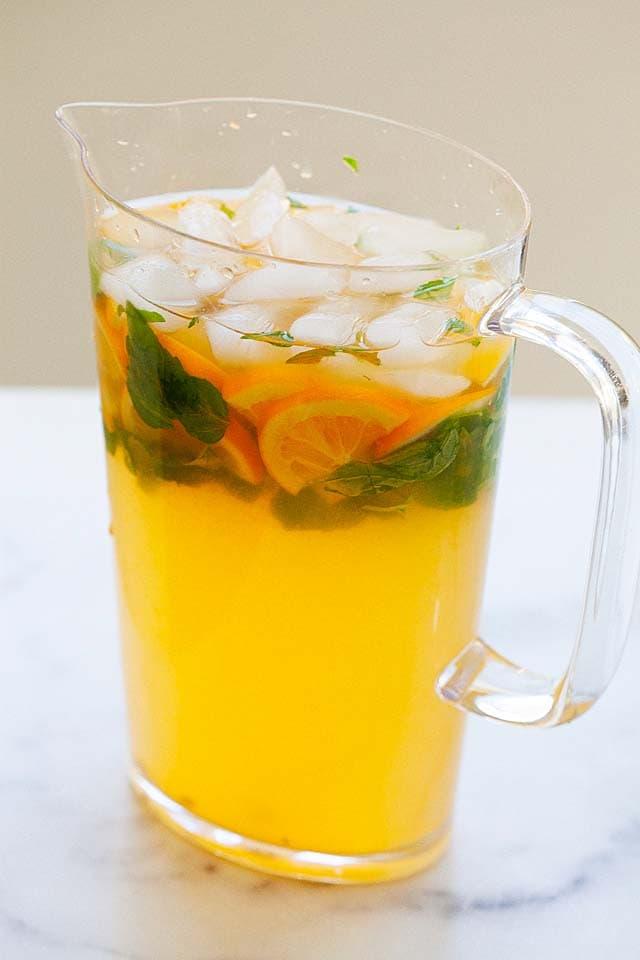 Lemonade with real lemon juice.