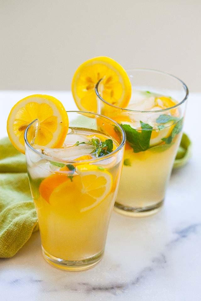 Homemade lemonade recipe.