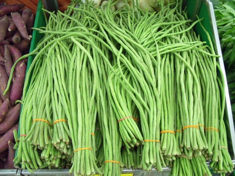 Long Beans or yard long beans, Chinese long beans or snake beans.