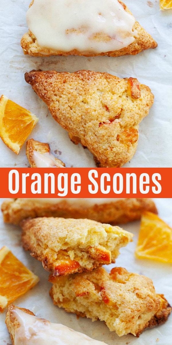 Easy scone recipe with dried orange. This is the best scone recipe ever: buttery, flaky orange scones. Learn how to make perfect scones with secrets and tips!