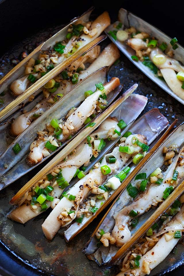 How to cook razor clam