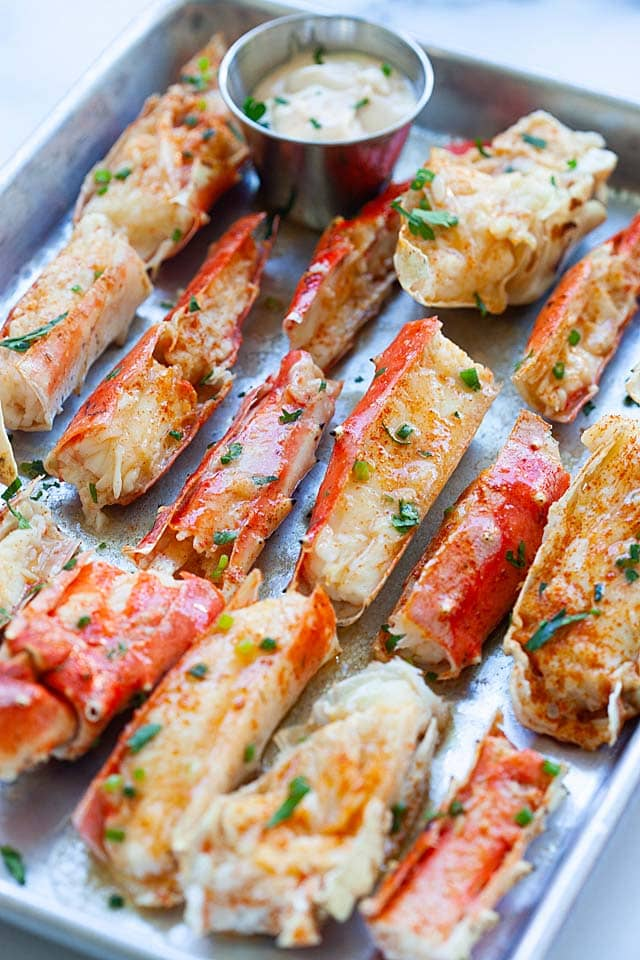 King Crab on a serving platter.