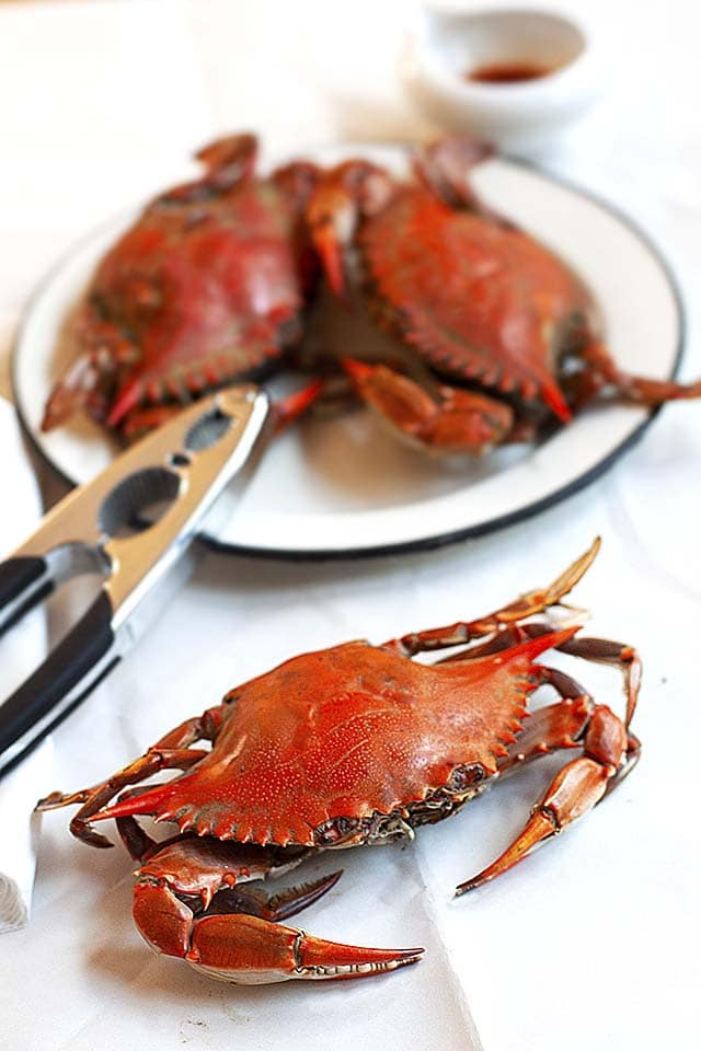 Crab baked.