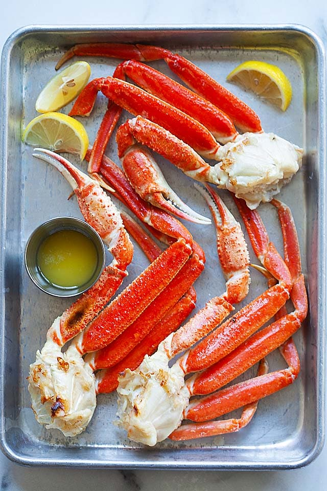 Snow crab, ready to serve.