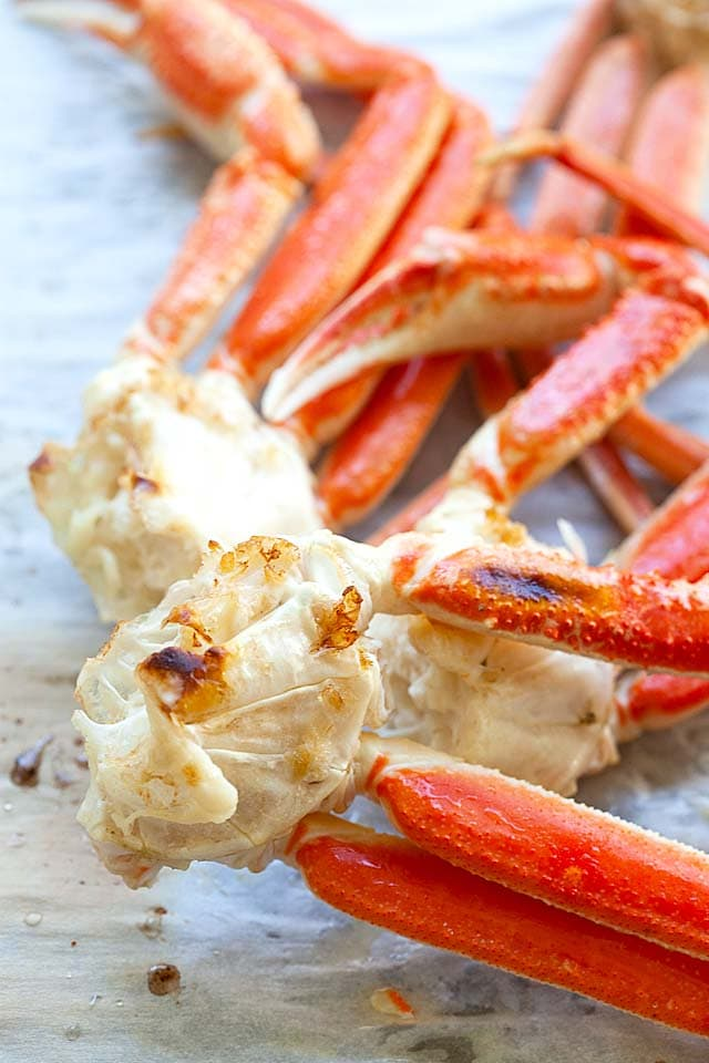 Snow crab, broiled in oven for 5 minutes.