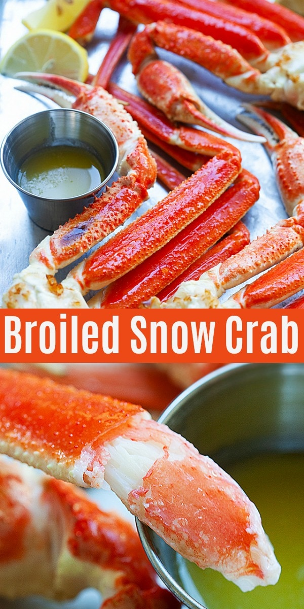 Snow Crab - broiled snow crab is the best way of cooking snow crab legs, so sweet, briny and delicious. This easy recipe takes only 5 mins and perfect for holidays and special occasions!