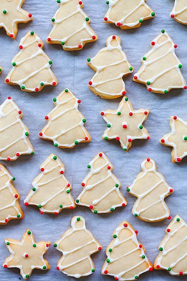 Simple cut out sugar cookies.
