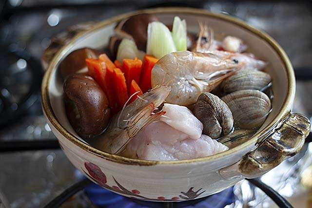 Japanese nabe ingredients