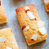 Financiers with almonds.