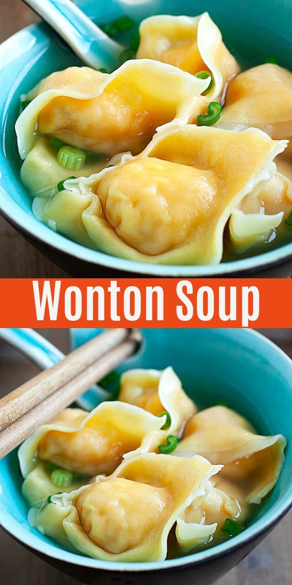 Easy wonton soup recipe with juicy shrimp wontons. Learn the best and most authentic ways to make this classic Chinese soup at home.