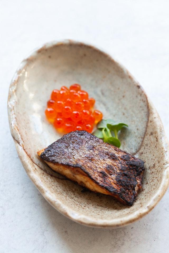 Branzino fish recipe with crispy skin.