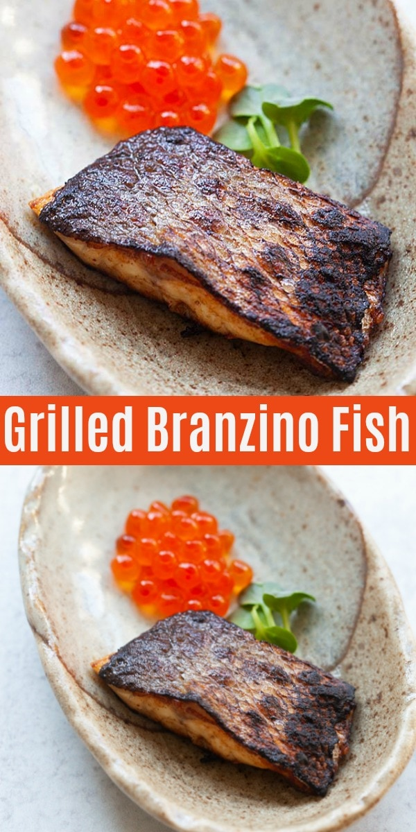 Branzino is the Italian name for European Sea Bass. This is the best Branzino recipe uses fresh Branziso fish filet and Japanese seasonings, pan grilled and smoked. It's fine dining and Michelin-star restaurant quality!