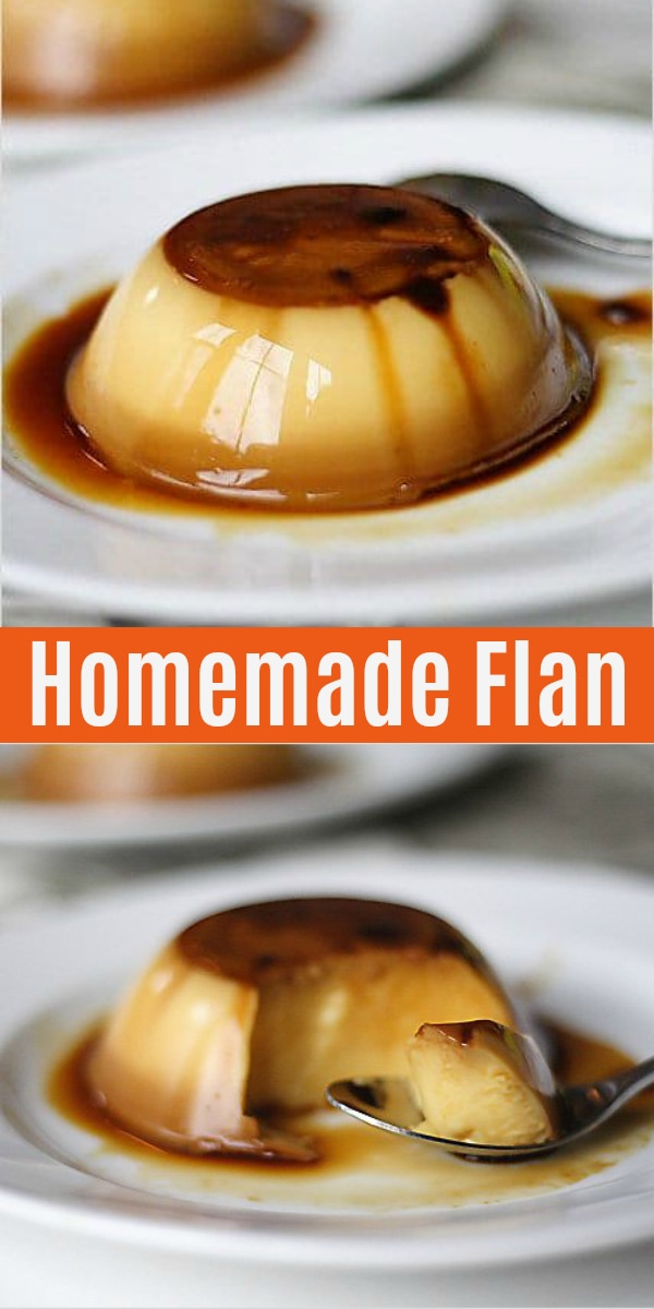 Flan is a sweet milky egg custard dessert with caramel sauce. Easy and the best flan recipe with only five ingredients and yields individual crème caramel.