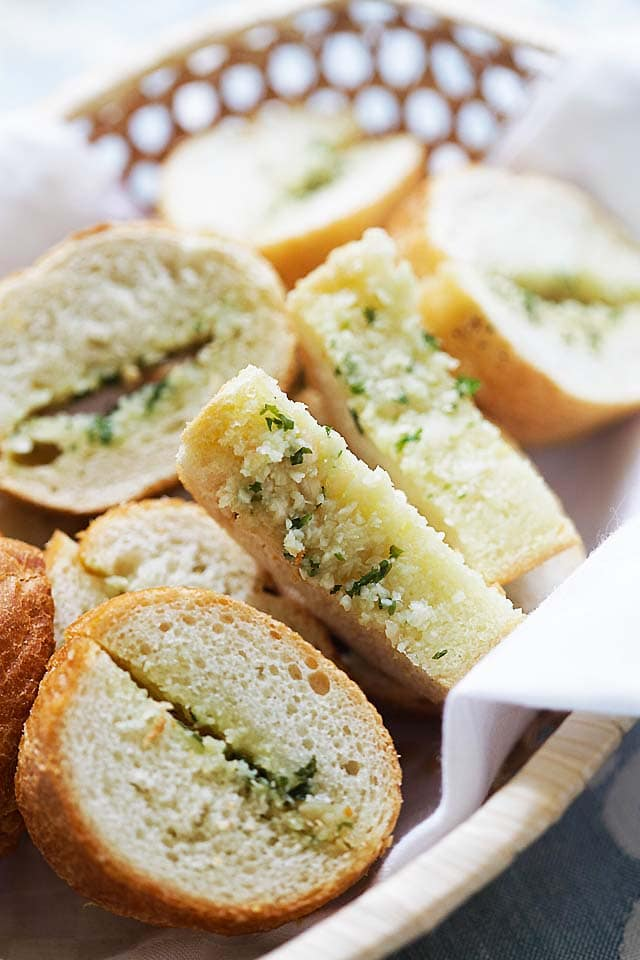 Homemade garlic bread easy and best.