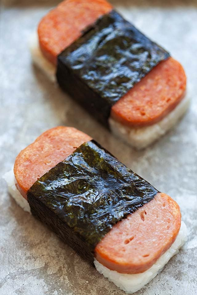 Spam Musubi How To Make Musubi Rasa Malaysia