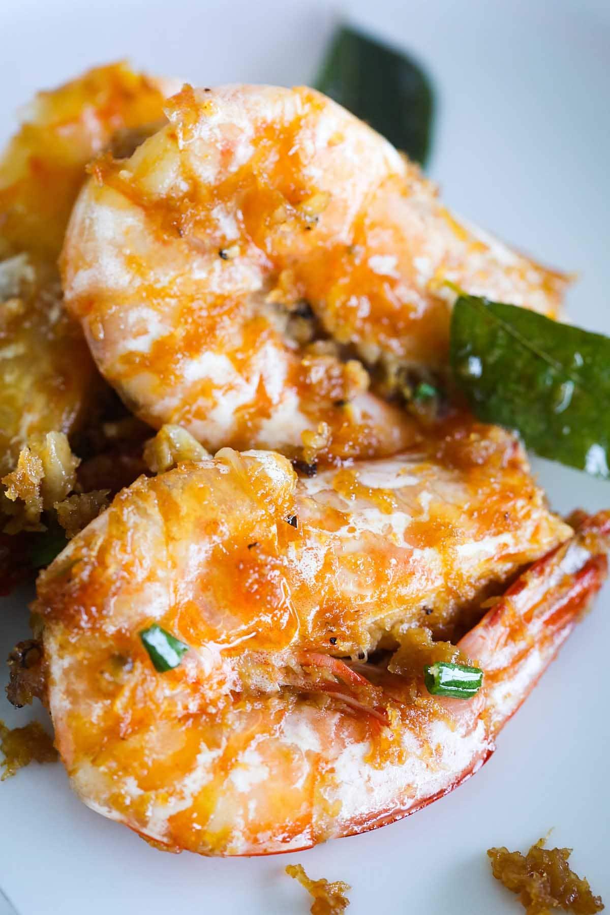 Butter prawn, ready to serve.