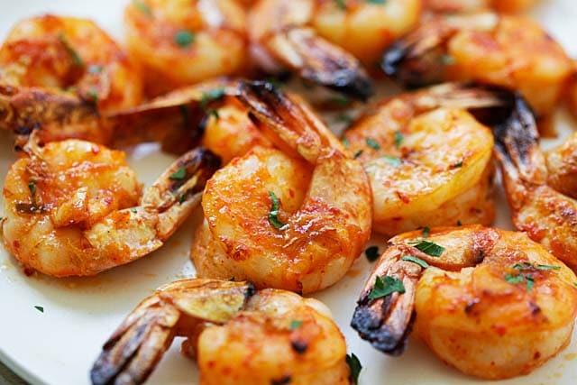 Grilled shrimp.