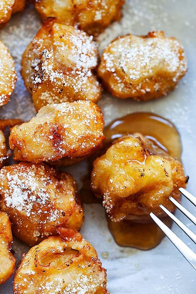 Crispy fried bananas.